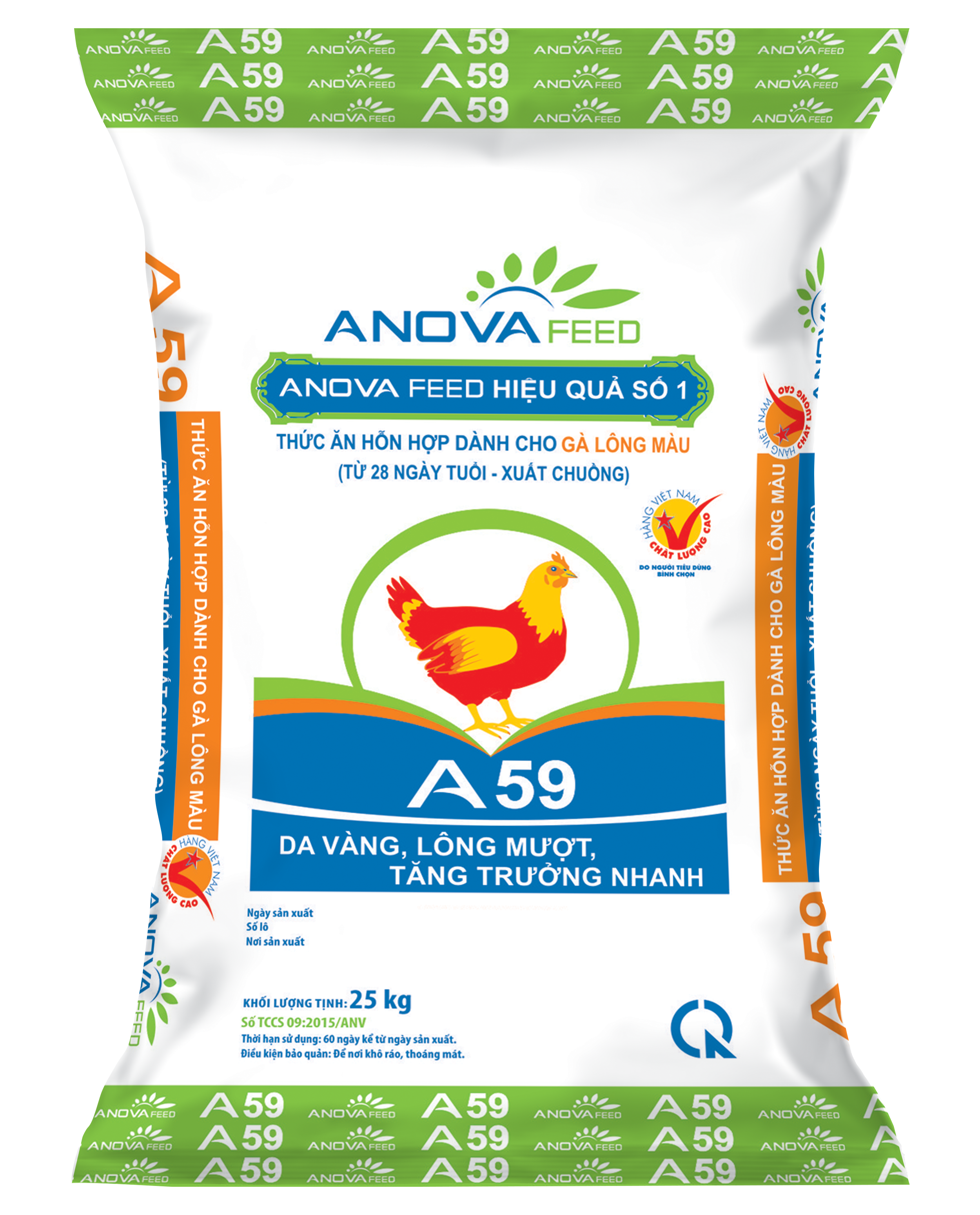 Color poultry feed (28 days - market)
