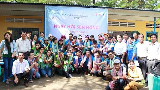"""CONNECTING VOLUNTARY HEART 2016"" SUPPORTS OVER 3 BILLION VND TO DONG THAP INHABITANTS"